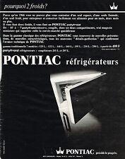 PUBLICITE ADVERTISING   1966   PONTIAC  réfrigérateur
