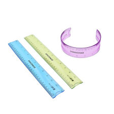 12'' 30cm Super Flexible Ruler Measuring Drawing Tool Stationery Office SchoolMW