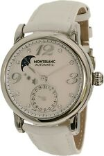 Montblanc Women's Star 103111 Silver Alligator Leather Swiss Automatic Watch