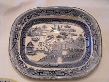 Small Blue Willow Meat Plate Platter