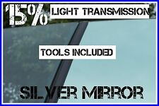 SILVER MIRROR 85% DARKER CAR WINDOW TINTING FILM 3m X 75cm ROLL TINT + FREE KIT