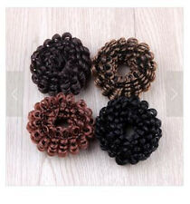 4pcs Women Weave wig hair Bands Scrunchie Ponytail Holder Hair Accessories