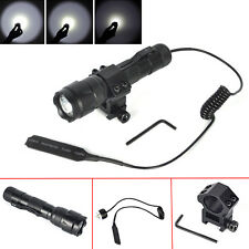 502B 3000Lm XM-L T6 LED Tactical Flashlight Torch + Rifle Mount + Remote Switch