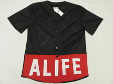 $78 NWT NEW Mens Alife Boxed Out Mesh Jersey Shirt Black Red Urban XXL 2XL L917