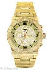 Aqua Master Men's  Gold-tone Stainless Steel Chrono 0.24ct Diamond Watch W#345