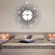 Oversized Luxury Scenic Iron Art Metal Living Room Wall Clock Modern Home Decor