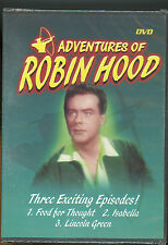 Adventures of Robin Hood 3 episodes DVD Movie rob rich & give to poor New