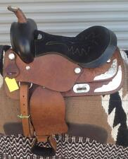 """13"""" NEW SHOW TAN LEATHER PLEASURE TRAIL WESTERN SADDLE ONLY  GREAT"""