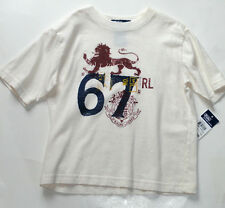 NEW RALPH LAUREN BOYS 4 YEARS GRAPGIC OFF-WHITE  TEE SHIRT  AUTH