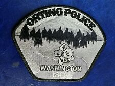 ORTING, WASHINGTON SUBDUED POLICE SHOULDER PATCH WA