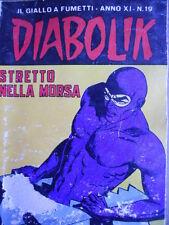 DIABOLIK - prima edizione - anno XI N°19 [G.245] - DISCRETO