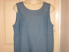 Cricket Lane Denim Jean Jumper Dress Pre-Shrunk Cotton Fabric Sz 18 NWT