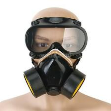 Spray Paint Twin Cartridge Respirator Mask+Glasses Goggles Industrial Safety