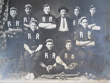 "ANTIQUE 1900 s BASEBALL TEAM "" RR "" RAILROAD? LAST FOUND MILWAUKEE WI BAT BALLS"