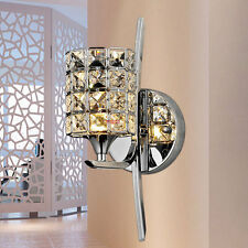 New Modern Luxury Bedroom Crystal Wall light Torch Bathroom Chrome Wall Sconces