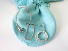"Tiffany & Co. Silver 1837 Circle Pendant 16"" Necklace w/ Box & Pouch"