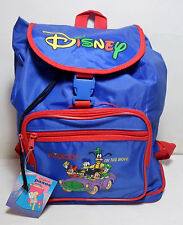 PAXOS GREEK VTG DISNEY MICKEY ON THE MOVE 13'' BACKPACK SCHOOL BAG RARE UNUSED