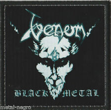 VENOM BLACK METAL PRINTED PATCH WITH EMBROIDERED BORDER Metal Negro