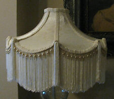 "Victorian French Large Floor Table Lamp Shade ""Bella""  Fringe Tassels Look!"