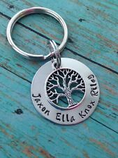 Family Tree of Life Key Ring NEW! Personalized Mom Mother Grandma Keychain