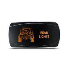 Rocker Switch Jeep Wrangler JK Rear Lights Symbol - Horizontal - Amber LED