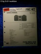 Sony Service Manual PMC M2 Personal Mini Disc System (#1627)