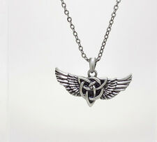 CELTIC WINGS w/TRIBAL KNOT NECKLACE PENDANT PEWTER JEWELRY NEW DESIGN.COOL