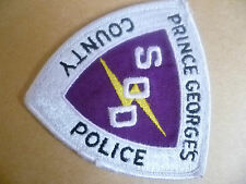 Patches: PRINCE GEORGE'S COUNTY SOD POLICE PATCH (NEW* apx.8.5x8.5 cm)