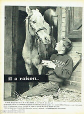 PUBLICITE ADVERTISING 125  1957  Nescafé  café soluble cheval & écuyer