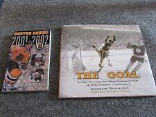 Vintage set of 2 Boston Bruins Hockey Team Themed Books Bobby Orr Famous Goal