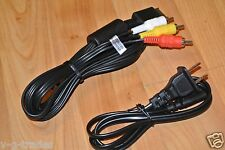 NEW POWER AND AV A/V CORDS / CABLES FOR PLAYSTATION 1  2  ps1 PS2 PLUG CORD