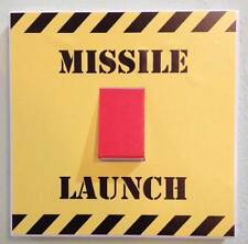 Missile Launch Button Light Switch Sticker Wall Art Childrens Bedroom
