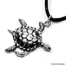 Sea Turtle Charm Pendant Necklace - UK Made - Reptile Tortoise Conservation