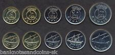 KUWAIT COMPLETE FULL COIN SET 5+10+20+50+100 Fils UNC UNCIRCULATED LOT of 5