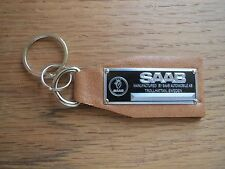 Saab Data Plate Leather Keychain 9-3 9-5 900 96 S80 9000 SE Aero Turbo Viggen