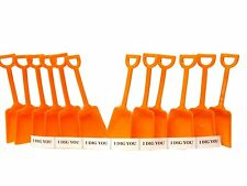 "48 Orange Small Toy Sand Shovels & 48 ""I Dig You"" Stickers. Mfg USA Lead Free"