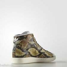 New~Adidas Originals STAN SMITH MID SNAKESKIN Shoe superstar promodel~Mens sz 13