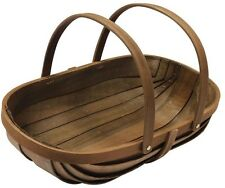 Joseph Bentley 21 in. Wooden Garden Trug Wood Garden Basket Plant Flower Caddy