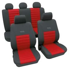 Sports Style Car Seat Covers - Grey & Red - For Honda Jazz 2002-2008