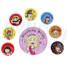 8pcs Novelty Bride to Be Badge Buttons Hens Night Bachelorette Party Accessory