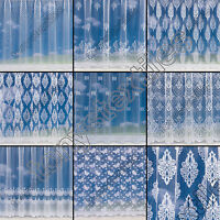 PREMIUM QUALITY NET CURTAIN WHITE SOLD BY THE METRE SLOT TOP VOILE NEW DESIGNS