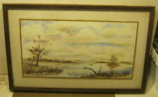 ART Watercolor LAKESCAPE Painting SIGNED T. Kuyper DATED 1974 WONDERFUL!