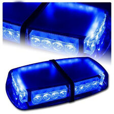 Blue Light 24 LED MINI Beacon Light Car Mongnetic Recovery Strobe Flashing 12V