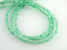 "Natural Untreated Colombian Emerald Faceted Rondelle Beads 2.2-2.5mm - 7"" Strand"