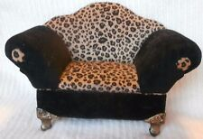 Small Leopard Print Couch, Sofa, Love Seat Jewelry Box