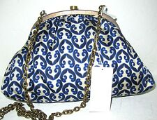 Ugg Australia Antique Look Silk Scarf Crossbody Evening Clutch Bag New With Tags