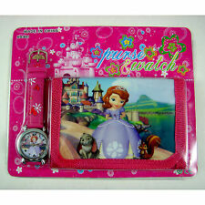 NEWEST Princess Sofia the First Children's Kids Boys Girls Watch Wallet Set Gift