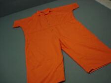 Inmate Jail Prisoner Convict Costume Prison Orange Jumpsuit 5XL