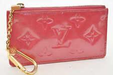 Auth  Louis Vuitton Monogram Vernis Pochette Kure Coin Purse Pink #S3617 E