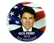 """2016 RICK PERRY for PRESIDENT 2.25"""" CAMPAIGN BUTTON, rpf"""